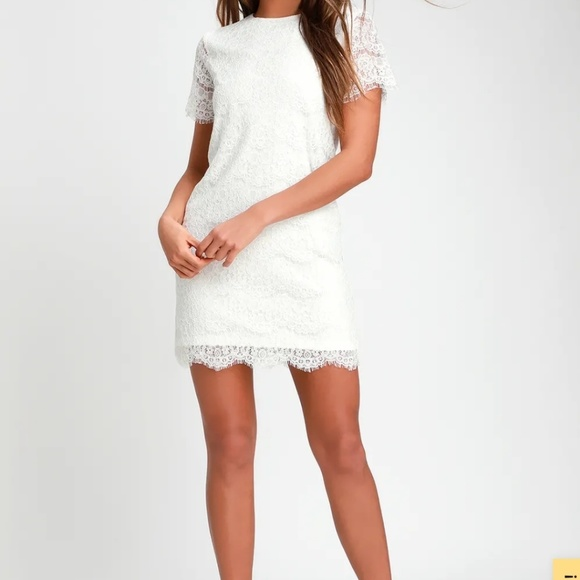 Lulu's Dresses & Skirts - White lace dress